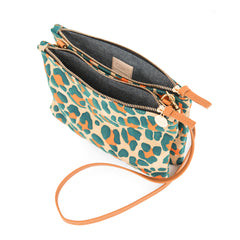 Double Sac Bretelle in Neon Cat Suede - Interior