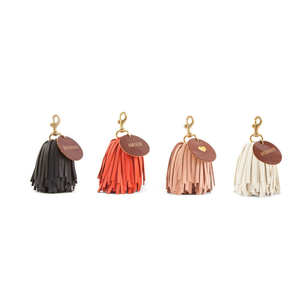 Pom Pom Tassels with Monograms
