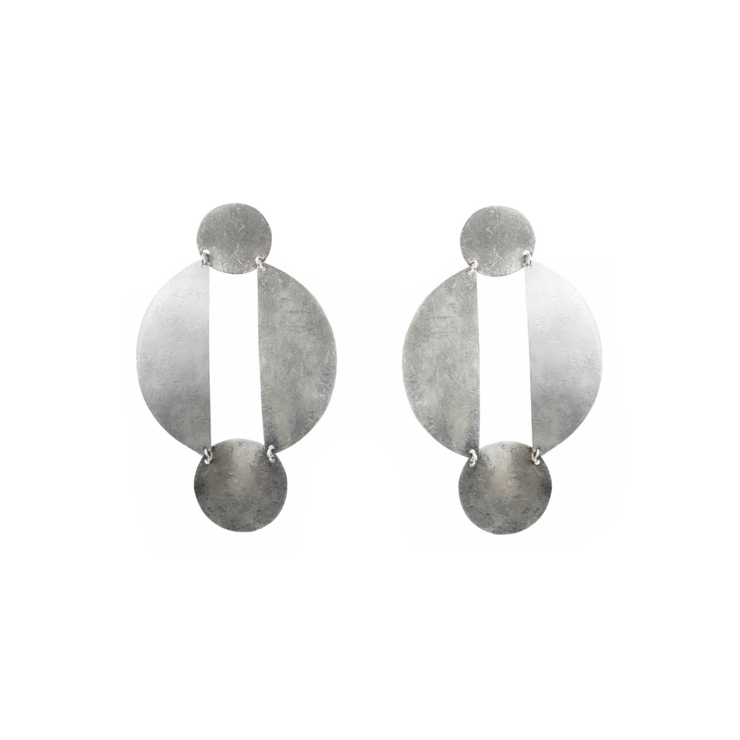 Annie Costello Brown  XL Split Circle Earrings