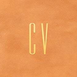 Letters CV in tall