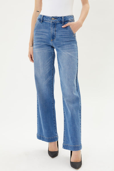 Kancan high rise trouser wide leg jeans KC7126M