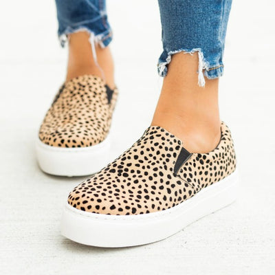 Stretchy slip on sneakers