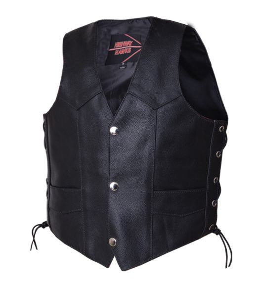 Kids Leather Vest - Side Laces