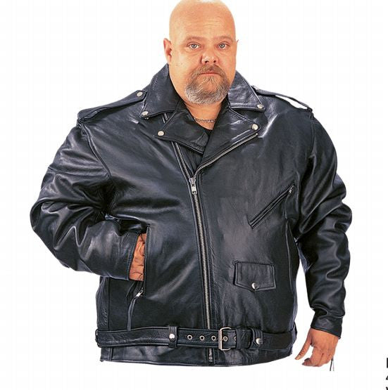 Big   Tall Mens Traditional PREMIUM M.C. Jacket – DeGroots House of Leather c13b6fa30ef6