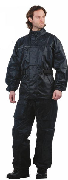 Mens REVOLUTION GEAR Reflective Nylon Rainsuit
