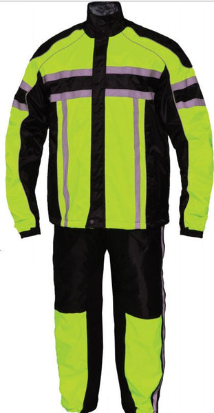 Mens REVOLUTION GEAR Hi-Viz Nylon Rainsuit