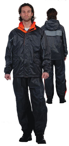 Mens REVOLUTION GEAR Traditional Nylon Rainsuit