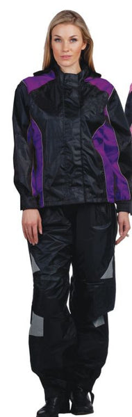 Ladies REVOLUTION GEAR 2-Tone Rainsuit - Purple