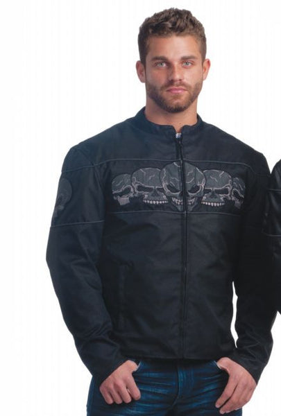 Mens REVOLUTION GEAR Nylon Jacket Skull
