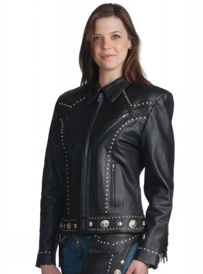 Ladies PREMIUM Biker Western Jacket