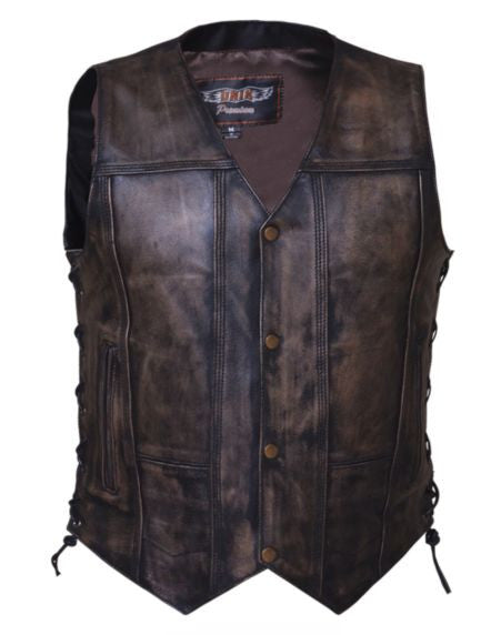 Mens 10 Pocket MONTANA Brown Vest