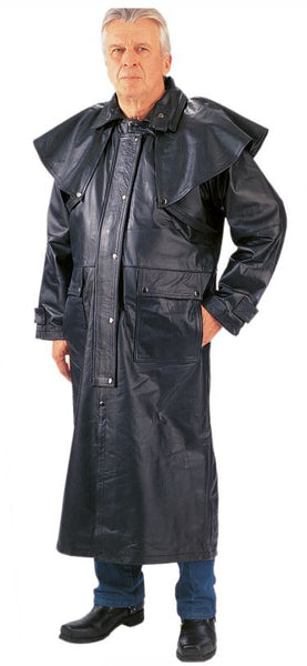 Mens PREMIUM Outback Leather Duster