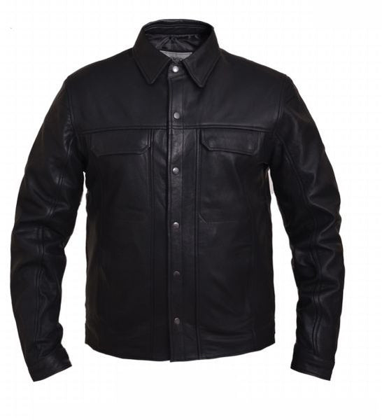 Mens PREMIUM Lightweight Leather Shirt