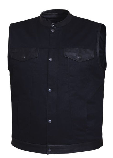 Mens UNIK DENIM Matt Black Club Vest