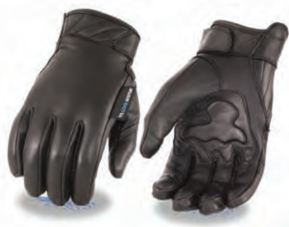 Men's Leather Gloves With Gel Palm, Cool Tec® Technology - Touch Screen Fingers