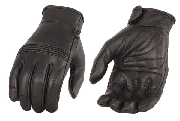 Men's Premium Leather Riding Glove w/ Gel Pam & Flex Knuckles