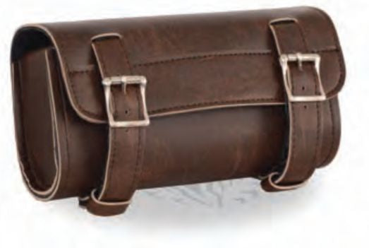 Two Buckle Antique Brown PVC S Tool Bag W/ Quick Release