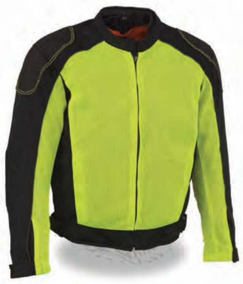 Men's High Visibility Mesh Racer Jacket W/ Removable Rain Jacket Liner