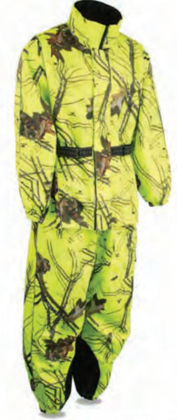 Men's Hi Vis Mossy Oak® Camo Rain Suit Waterproof W/ Reflective Piping