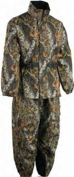 Men's Mossy Oak® Camouflage Rain Suit Waterproof W/ Reflective Piping