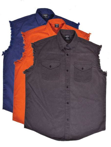 Mens UNIK DENIM Cutoff Shirt - Charcoal