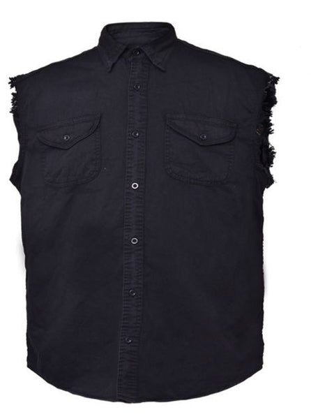 Mens UNIK DENIM Cutoff Shirt - Black