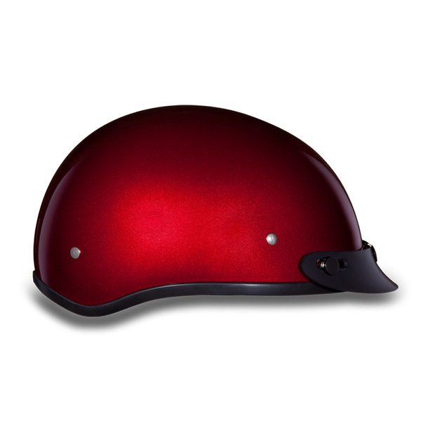 Daytona Skull Cap - Black Cherry Metallic - With Visor