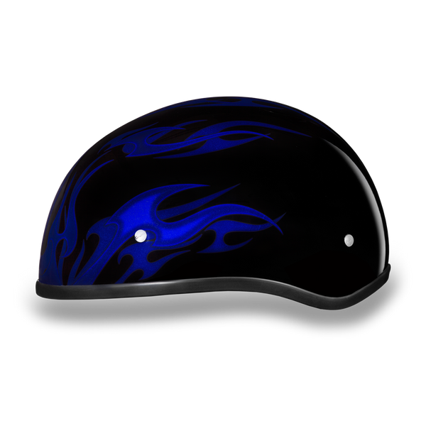 Daytona 1/2 Shell Hemlet - Flames Blue