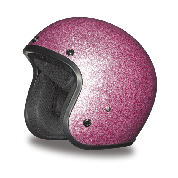 Daytona 3/4 Shell Cruiser Hemlet - Pink Metal Flake