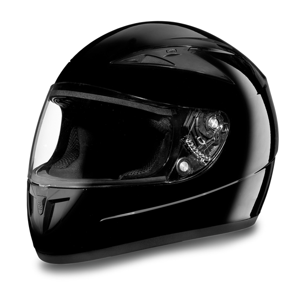 Daytona DOT Full Face Helmet - Shadow - HI-Gloss Black