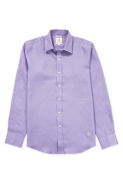 Slim fit cool linen shirt violet