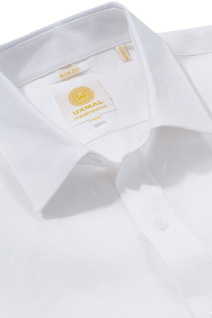 Slim fit cool linen shirts white
