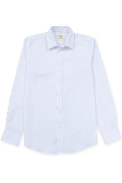 Slim fit linen blend cool shirt white