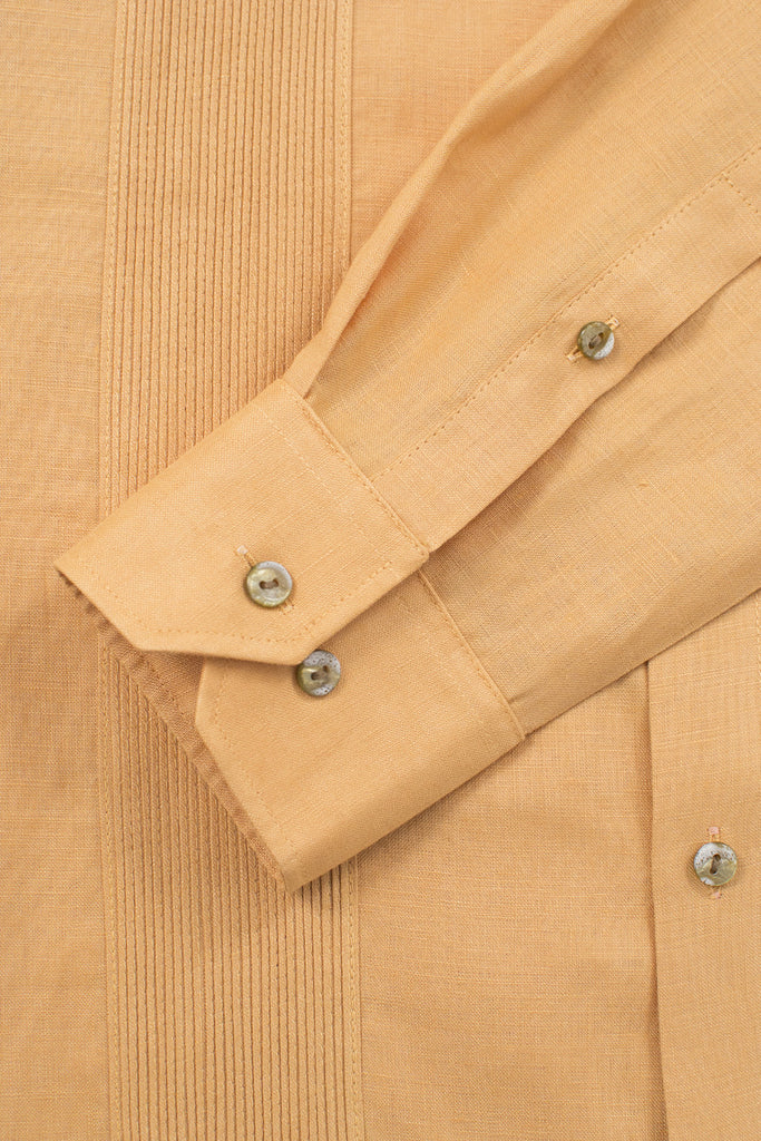 regular fit linen guayabera