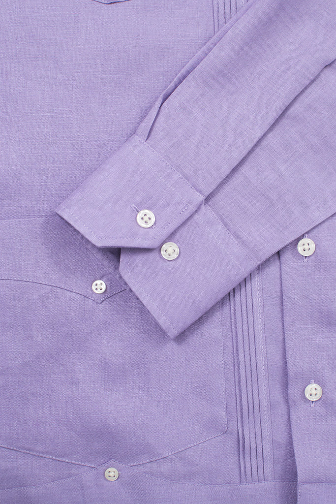 regular fit 4 pocket linen guayabera