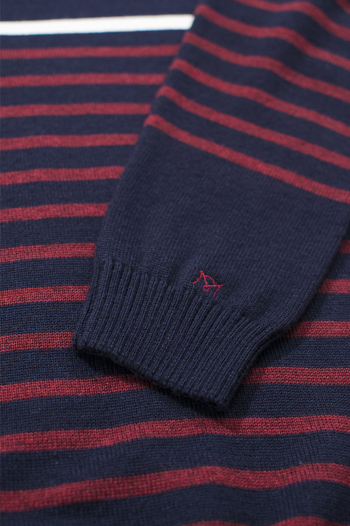 striped merino wool blend sweater