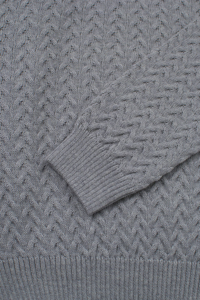 cable knit merino wool blend sweater