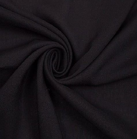 Rayon Challis Fabric by the yard (Black) - FabricLA.com