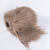 FabricLA Faux Fur Vegan Animal Friendly Designer Fashion Mohair Fabric Light Brown