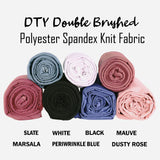 FabricLA | DTY Double Brushed Polyester Spandex Knit Fabric | Sold by the Yard | Shorts, pants, sleeveless blouses, T-shirts | Hunter Green