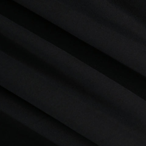 FabricLA | DTY Double Brushed Polyester Spandex Knit Fabric | Sold by the Yard | Shorts, pants, sleeveless blouses, T-shirts | Black
