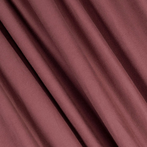 FabricLA | DTY Double Brushed Polyester Spandex Knit Fabric | Sold by the Yard | Shorts, pants, sleeveless blouses, T-shirts | Mauve