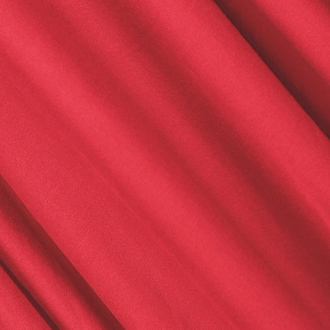 FabricLA | DTY Double Brushed Polyester Spandex Knit Fabric | Sold by the Yard | Shorts, pants, sleeveless blouses, T-shirts | Red