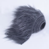 FabricLA Faux Fur Vegan Animal Friendly Designer Fashion Mohair Fabric Dark Grey