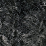 FabricLA Faux Fake Fur Shaggy Fabric by The Yard - Dark Gray - Free Shipping Within USA - FabricLA.com