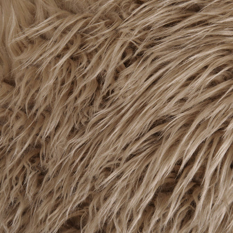 FabricLA Fake Fur Shaggy Fabric by The Yard (Beige)- Free Shipping Within USA - FabricLA.com