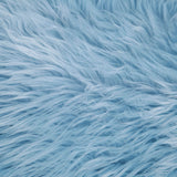 FabricLA Fake Fur Shaggy Fabric by The Yard - Baby Blue - Free Shipping Within USA - FabricLA.com