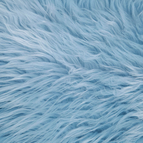 FabricLA Faux Fake Fur Shaggy Fabric by The Yard - Baby Blue - Free Shipping Within USA - FabricLA.com