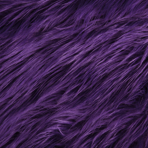 FabricLA Faux Fake Fur Shaggy Fabric by The Yard - Purple - Free Shipping Within USA - FabricLA.com