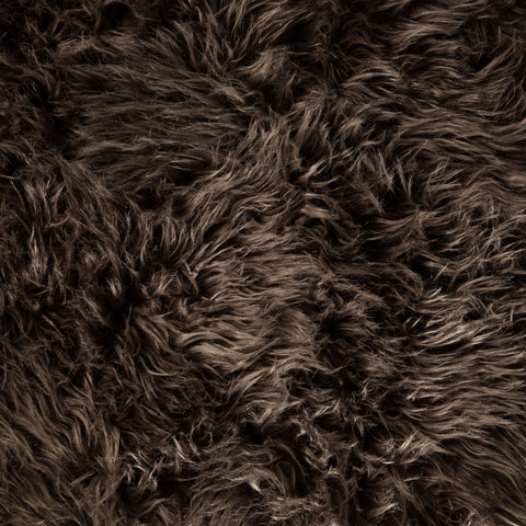 FabricLA Faux Fake Fur Shaggy Fabric by The Yard (Chocolate) - Free Shipping Within USA - FabricLA.com